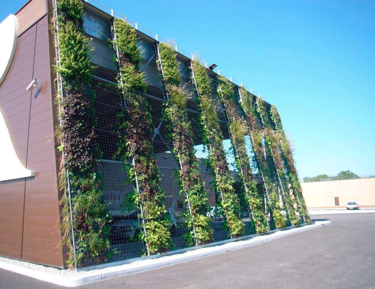 Como hacer un muro verde cool construccin de un muro - Muros verdes verticales ...