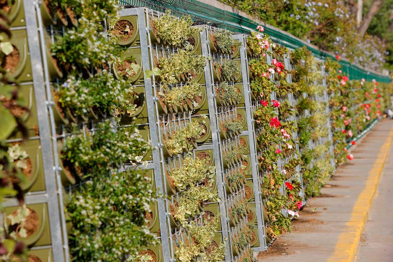 Jardines verticales en el mundo canevaflor proyectos for Verde vertical jardines verticales